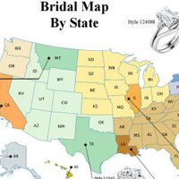 Bridal Map by State