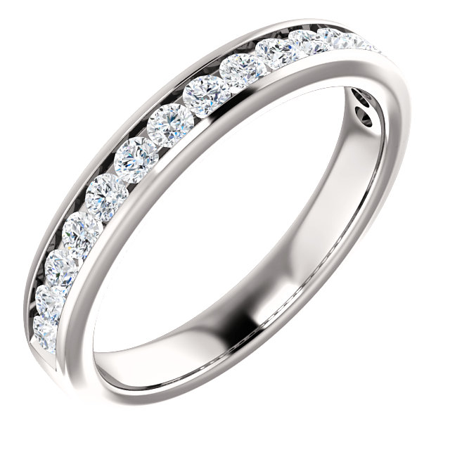 Round Channel Setting Engagement Ring