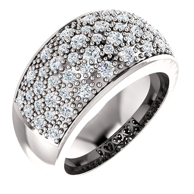 Pave Setting Engagement Band